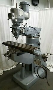 Bridgeport Milling Machine 42 Table Mill Miller 2hp Variable Speed Power Feed