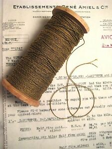 4 Yds 2 Ply Vintage Antique French Gold Metallic Twisted Rope Cord Trim 1 32
