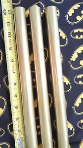 1 Brass Solid Round Rod 12 Long 3 Pieces 1 Od New Lathe Bar Stock 1 2 Hard