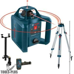 Bosch Grl245hvck 800 Dual axis Self leveling Rotary Laser New