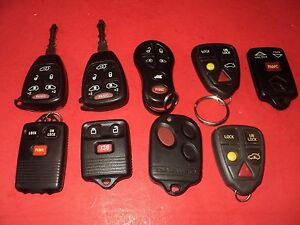 Lot Of Keyless Entry Remotes