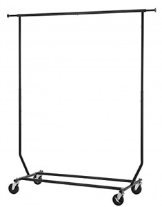 Heavy Duty Clothes Rack Sturdy Rod Garment Rack Large Collapsible Rolling Rack