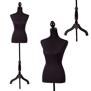 Bestmassage Tripod Wooden Base Female Dress Mannequin Clothing Display Stand