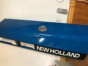 Ford New Holland Tractor 7740 Used R s Hood Blue E9nn16618bc