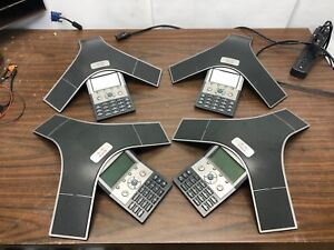 Lot Of 4x Cisco Cp 7937g Conference Phones With 6 Microphones