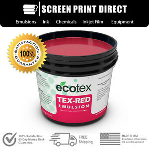 Ecotex Red Textile Pure Photopolymer Screen Printing Emulsion