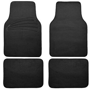 Universal Floor Mats For Auto Car Suv Van Carpet Liner Black