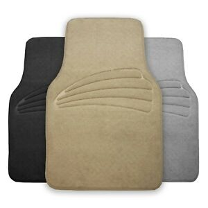 4pcs Universal Floor Mats For Auto Car Suv Van Carpet Liner All Weather 3 Colors