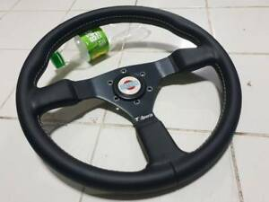 Rare Tomei T Sports Steering Wheel With Momo Datsun Horn Button Skyline R32 R30