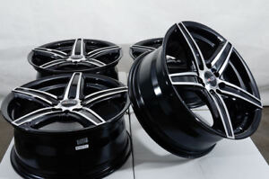 16 Wheels Acura Legend Honda Accord Civic Neon Fortwo Black Rims 4x100 4x114 3