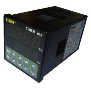 Sestos Digital Twin Timer Relay Time Delay Relay Switch 110 220v Black B2e New