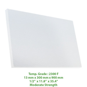 Thermal Insulation Board 2300 F 35 4 X 11 8 X 1 2