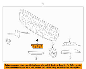 Volvo Oem 10 16 Xc70 Front Bumper Grille Grill trim Molding Support 31294506