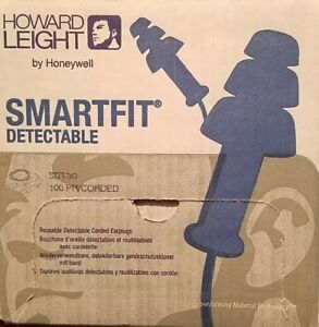 Howard Leight Smartfit Detectable Triple Flange Earplug 25nrr howsdt30
