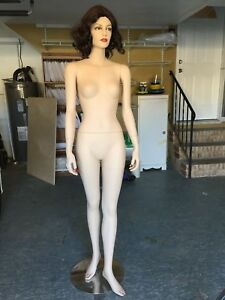 Female Full Body Mannequin With Metal Base