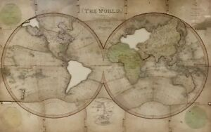 Antique World Map Dissected And Framed By John Wallis Jigsaw Puzzle Framed 1812