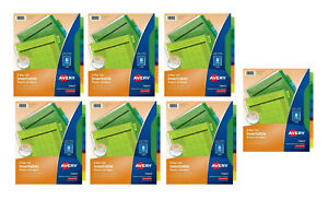 New Lot Of 7 Avery 8 Big Tab Insertable Pocket Dividers School Office Business