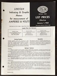 Sangamo Lincoln Indicating Graphic Meters For Amperes Volts 1960 Price List