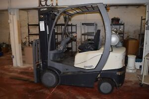 2011 Crown C51000 C 5 5000lb Forklift Lpg 3 Stage Mast Sideshift 4181 Hours