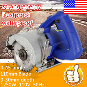 110v Hand held Wood Metal Glass Tile Saws Cutting Grooving Machine Cutter Usa