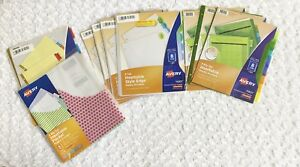 Lot Of 9 Assorted Avery Office Supply Lot School Business Office Folder Dividers