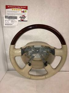 2004 Lincoln Aviator Steering Wheel Parchment Tan Leather some Spots see Pics