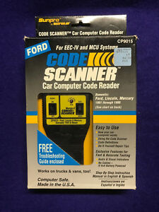 Actron Cp9015 Obd1 Engine Trouble Code Reader Book Ecc Iv Ford Lincoln Mercury