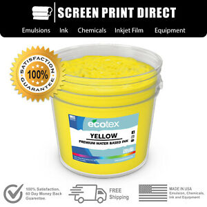 Ecotex Yellow Premium Water Based Ink For Screen Printing Gallon