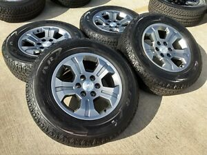 18 Chevy Silverado Tahoe Z71 Oem Wheels Black Rims Tires 5819 2017 2018 2019