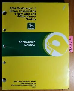 John Deere 7200 Maxemerge 2 Drawn Conservation 6rw 8rn Planter Operator Manual