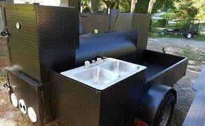 Stainless Sink Bbq Mobile Catering Business Smoker Grill Trailer Food Cart Truck