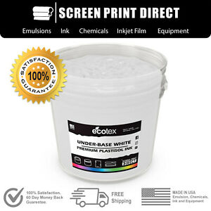 Ecotex Flash White Np Premium Plastisol Ink For Screen Printing 5 Gallon