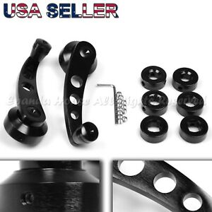 For Old Jdm Cars 4 7 Aluminum Alloy Usa Anodized Black Window Cranks Winders