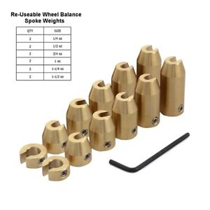 12x Wheel Balance Weights Refill Kit Wrench Tool Universal For Ktm Bmw Gs Models