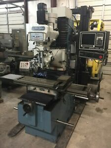 Southwestern Industries Prototrak Dpm 3 axis Dro Bed Mill 1996 With Tooling
