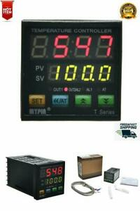 Thermocouple Snr Pid Dual Digital Display Temperature Controller Dual Type k New