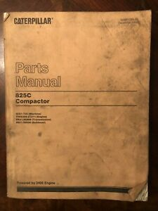 Caterpillar 825c Compactor Parts Manual