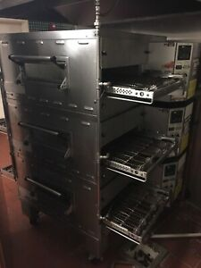 Middleby Marshall Ps536e Electric Triple Deck Conveyor Pizza Oven Belt Width 20