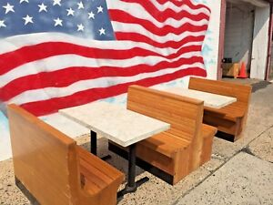 Restaurant Booths Set 2 Doubles 46 1 End 46 3 All Wood