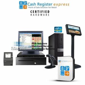 New Dell Pcamerica Cre Cash Register Express Pos Retail Version Lcd Pole