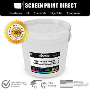 Ecotex Poly White Np Premium Plastisol Ink For Screen Printing 5 Gallon