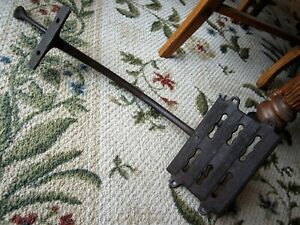 Huge Commercial Antique Cast Iron Stagecoach Buggy Step Primitive Carriage