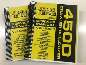 Service Manual For John Deere 450d Crawler Bulldozer Tm 1291 908 Pages