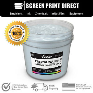Ecotex Crystalina Premium Plastisol Ink For Screen Printing 5 Gallon