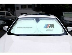 Bmw Logo Car Windshield Reflective Sun Shade Block Uv Rays Foldable Sun Visor
