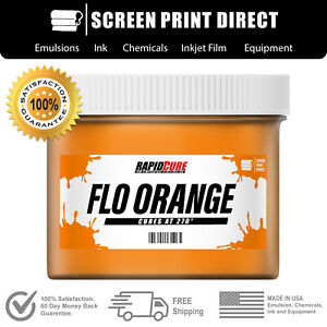 Ecotex Flo Orange Np Premium Plastisol Ink For Screen Printing 5 Gallon