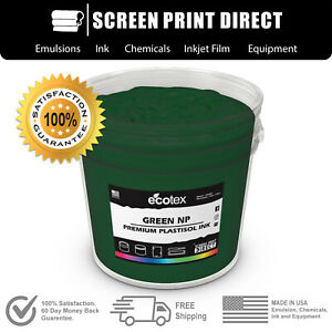 Ecotex Green Np Plastisol Ink For Screen Printing Fabric And Textile 5 Gallon