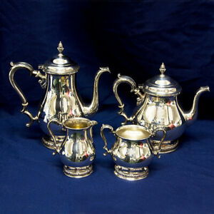 Prelude International 4 Pctea Pot Coffee Pot Creamer And Sugar W Lid Set