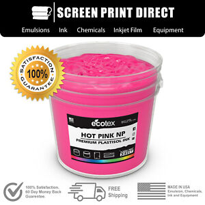Ecotex Hot Pink Np Premium Plastisol Ink For Screen Printing 5 Gallon