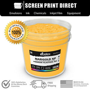Ecotex Marigold Premium Plastisol Ink For Screen Printing 5 Gallon